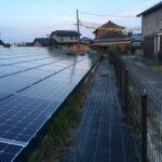 鈴鹿市にて年間管理先太陽光発電所の除草剤処理です 三重県鈴鹿市の草刈り専門店 草刈り本舗桐生